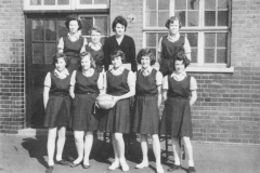 Mary (front right) at Holbrook Road Secondary School