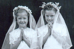 Mary (right) at Holy Communion with Eileen